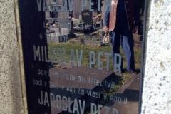 Kenotaf Miloslava Petra, hřbitov Plzeň - Škvrňany. Cenotaph of Miloslav Petr, Škvrňany graveyard.