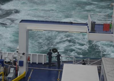 11 - Commemoration event held on deck on ferry over La Manche.