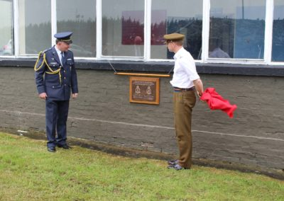 12 - Unveiling of commemoration plaque dedicated to Czechoslovak airmen in the RAF, former air base of 313 Squadron and 68 night fighter Squadron, Catterick.