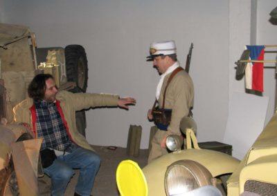 Z natáčení dokumentu Historie československého vojenského letectví - díl Nedáme se, 2009