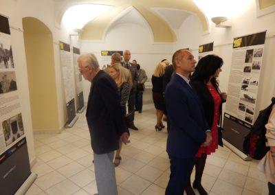 Vernisáž výstavy o Nebeských jezdcích, Krajské vojenské velitelství, Olomouc, 2. 9. 2017