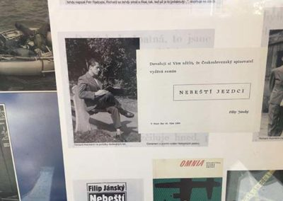 Vzpomínka na Richarda Husmanna, autora Nebeských jezdců, Městská knihovna v Praze, pobočka Břevnov