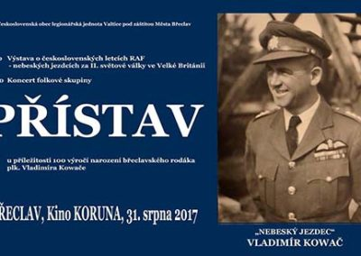 Vzpomínka na Vladimíra Kowače u příležitosti 100. výročí jeho narození, Břeclav, 31. 8. 2017
