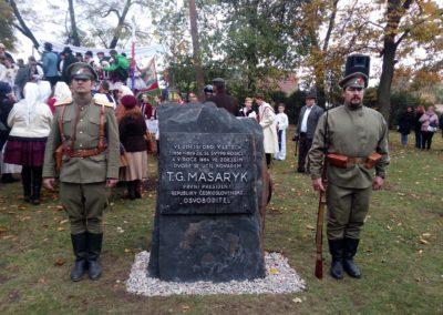 100. výročí vzniku Československa a výstava o Nebeských jezdcích a čs. letcích v RAF, Čejč, 28. 10. 2018