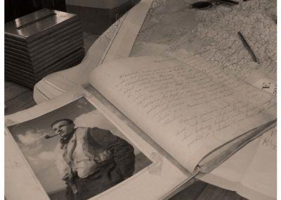 Z natáčení dokumentu Osud na nebi Josefa Janeby, 2007