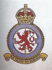 Znak a schvalovací listina znaku 310. československé stíhací perutě RAF