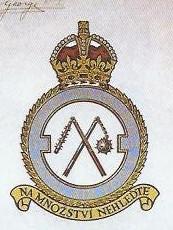 Znak a schvalovací listina znaku 311. československé bombardovací perutě RAF
