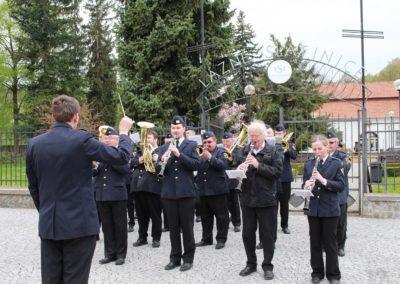 Slavnostní odhalení pamětní desky příslušníků RAF, Slatinice, 15. 4. 2017