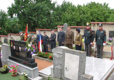 Uložení ostatků Františka a Anny Peřinových, Morkůvky, 2006