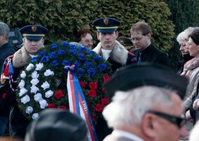 Odhalení památníku padlým americkým letcům, Víska - Višňová, 7. 3. 2015