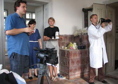 Z natáčení dokumentu o Františku Truhlářovi Nepřítelem osudu, 2007