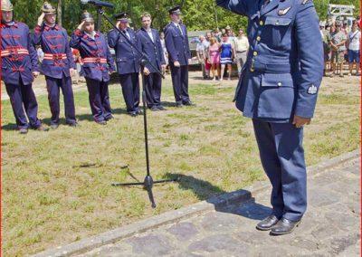 Připomínka britských letců RAF, kteří zahynuli u obce Němčičky, 19. 7. 2014