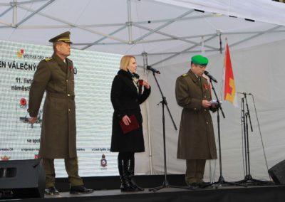Renovovaná výstava o Nebeských jezdcích a Den válečných veteránů, Náměstí Míru, Praha 2, 11. 11. 2016