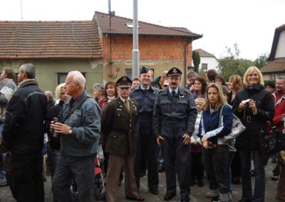 Vzpomínka na P/O Jindřicha Beneše, DFC, Horní Jelení, 2009