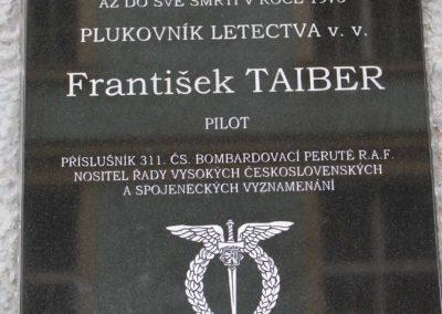 Odhalení pamětní desky Františku Taiberovi, Praha, 11. 11. 2015