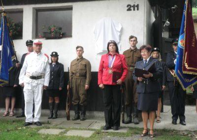 Odhalení pamětní desky Ludvíku Hynkovi, Ratiboř u Vsetína, 2010