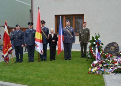 Oslava 100. výročí narození Josefa Františka, stíhacího pilota RAF, Otaslavice, 2014