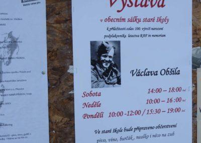 Vzpomínka na Václava Obšila, letce RAF, Pňovice