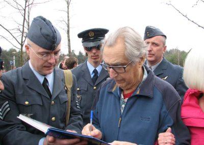 Vzpomínka na 70. výročí Velkého útěku ze zajateckého tábora Stalag Luft III Sagan, Zagaň, Polsko, 2014, 23. 3. 2013