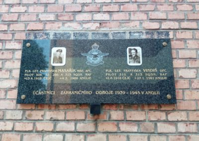Vernisáž hodové výstavy, vzpomínka na Františka Masaříka MBE, AFC a Františka Vindiše, DFC, Čejč