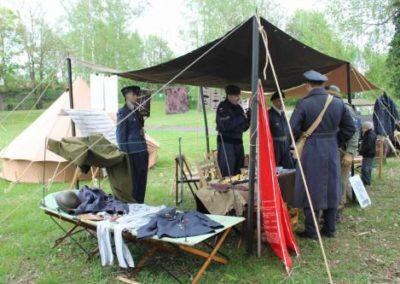 RAF reenctors camp