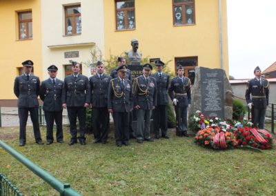 5 - Unveiling ceremony of monument dedicated to RAF airmen and victims of the shoah from Trhová Kamenice. Trhová Kamenice, East Bohemia. September 2012.